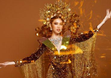 Cận cảnh bộ quốc phục của Á hậu Ngọc Thảo tại Miss Grand International 2020