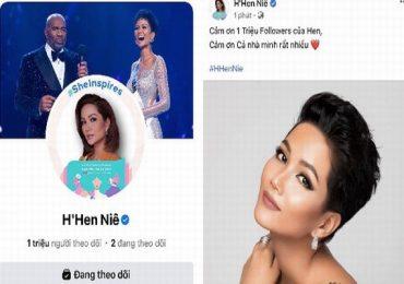 Hoa hậu H'Hen Niê mừng Fanpage đạt 1 triệu người theo dõi